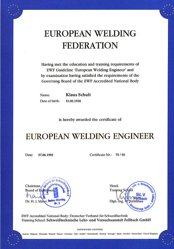 European Welding Engineer
